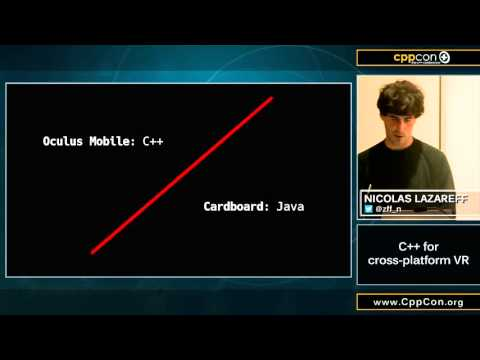 "CppCon 2015: Nicolas Lazareff ""C++ for cross-platform VR"""