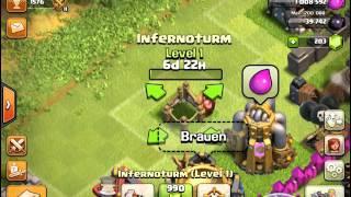Clash of clans: ich habe mein infernoturm!!