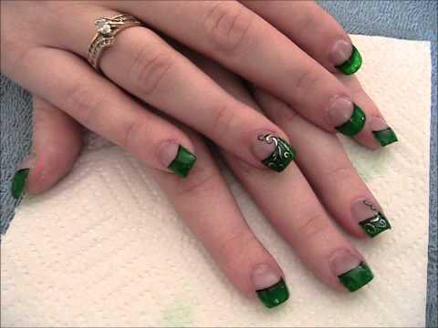 Luck of the Irish Emerald green nails.