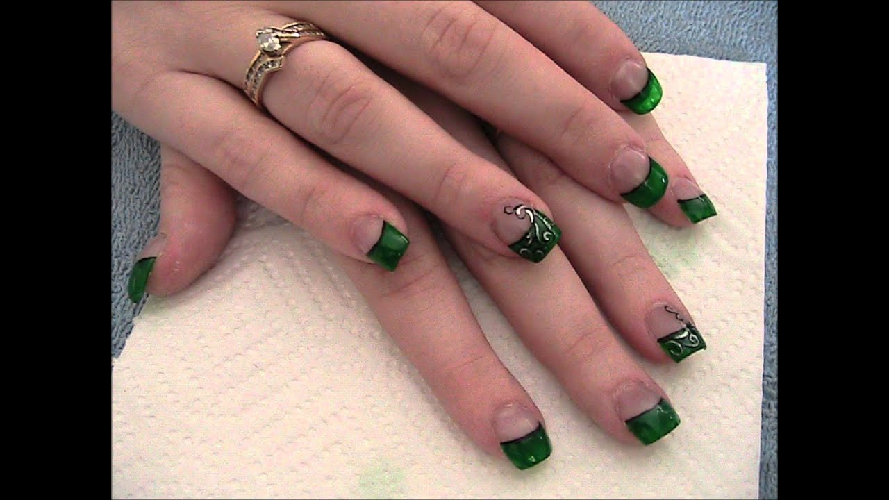Luck of the Irish Emerald green nails. - YouTube