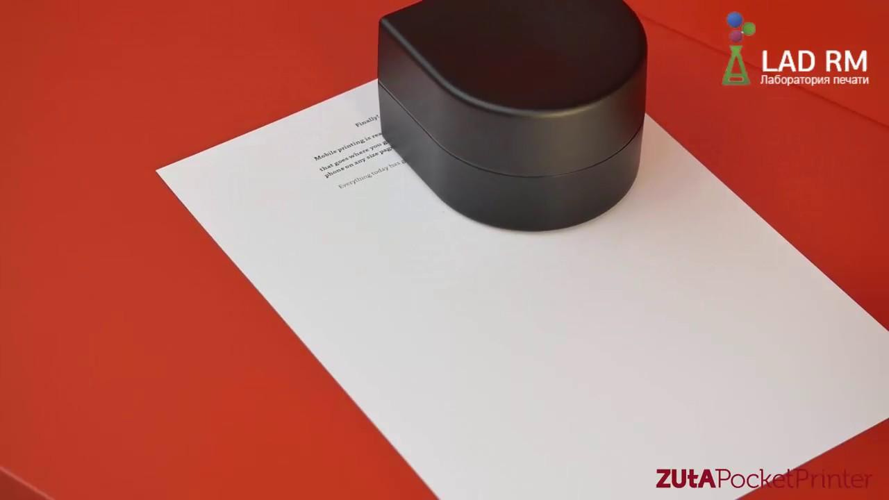 Карманный принтер Polaroid GL10 - YouTube