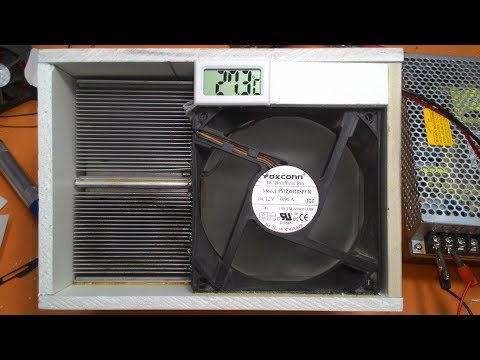 How To Make A Portable Air Conditioner At Home Using Thermoelectric Peltier Module 12 Volt