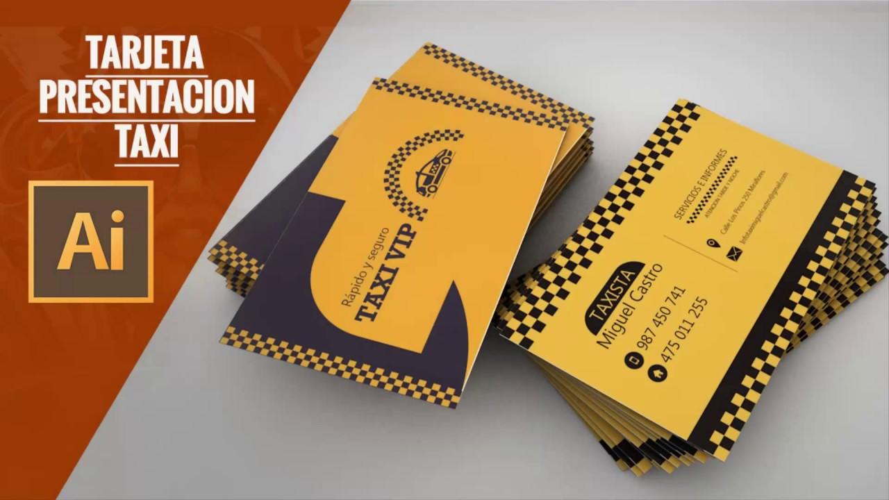 Tarjeta de Presentación Taxi en Ilustrator CC
