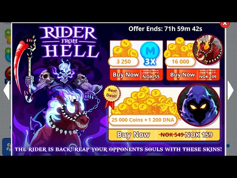AGAR.IO NEW SKINS//NEW SKINS JUNE//RIDER FROM HELL & SKIN O MATIC