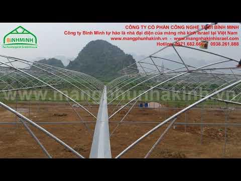 lắp đặt 2,5 ha nhà kính nông nghiệp công nghệ cao - Công ty Bình Minh