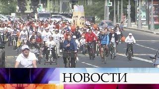 ВМоскве прошел велопарад ТеатРалли.