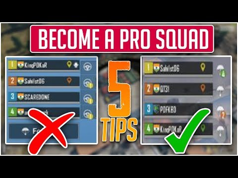TOP 5 Tips to Build a PRO Squad in PUBG MOBILE | PUBG Tips & Tricks 2019