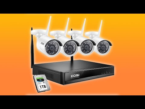 Zosi Wireless NVR Security Camera System 1080P IP Camera System