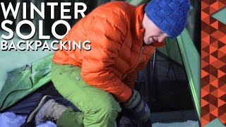 Solo Winter Backpacking Trip - The Road to Saratoga