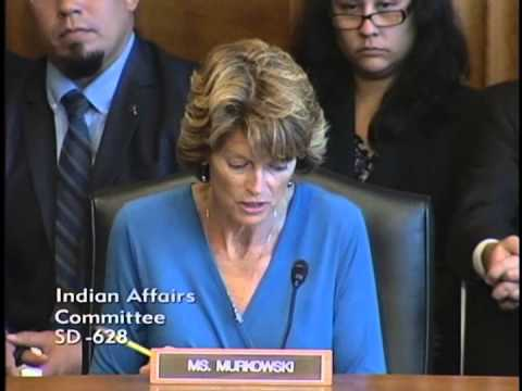 Senator Murkowski in Indian Affairs Committee: How can we best protect Native youth?