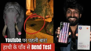 Redmi Note 7 Bend Test By Elephant 🐘 in India | Unboxing,First Look & Review | Technical Dost
