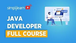 Java Developer Course 2021   Java Developer Tutorial For Beginners   Java Programming   Simplilearn
