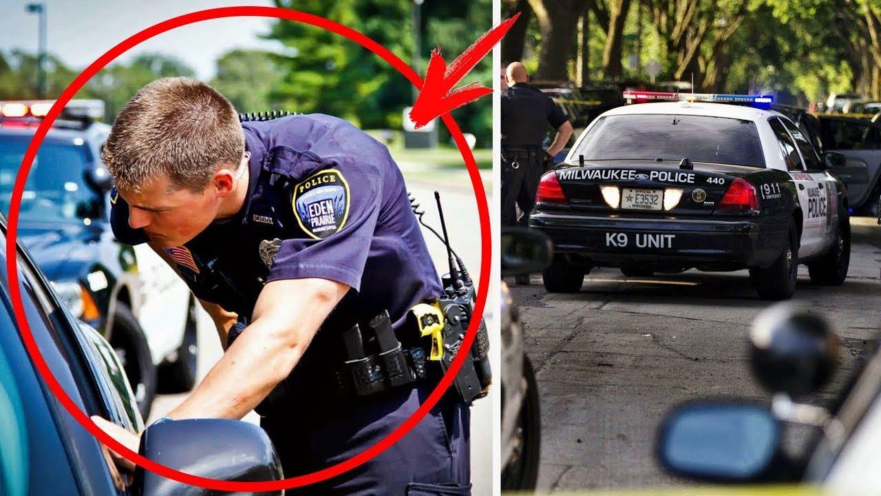 أوقفها الشرطي ولكن عندما نظر في السيارة فعل امر غير متوقع أوقفها الشرطي ولكن عندما نظر في السيارة