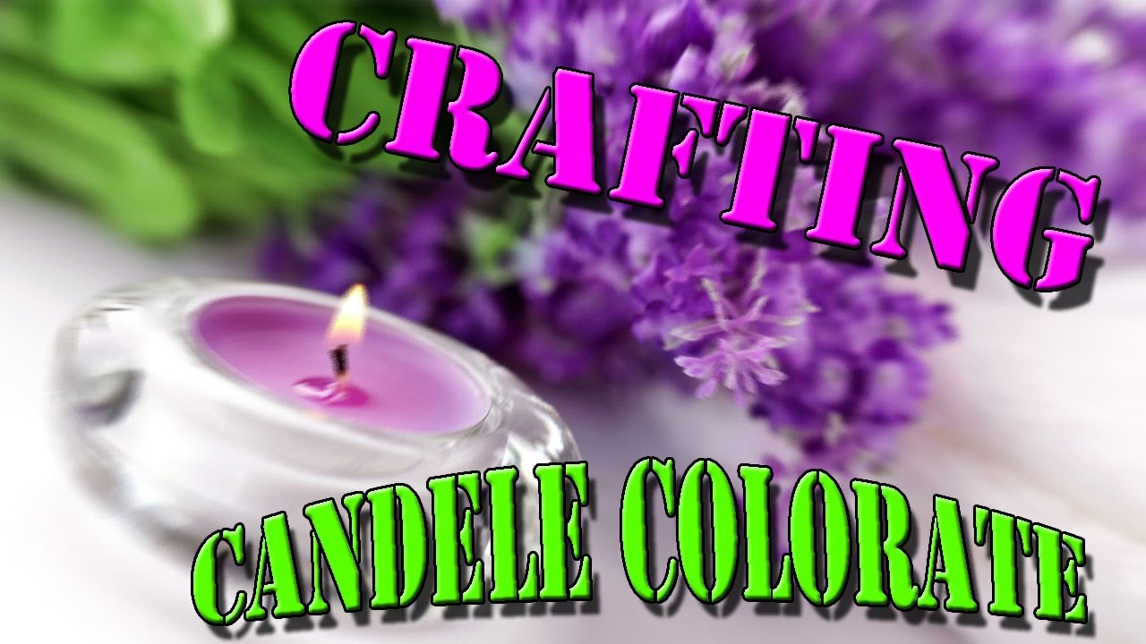 Crafting candele colorate fai da te youtube for Candele colorate