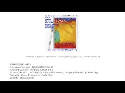 Android 4.4.2 KitKat Firmware For Samsung Galaxy Note 3 Download