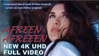 AFREEN AFREEN  | 1080p FHD Video With Lyrics | Nusrat Fateh Ali Khan | Javed Akhtar | Video Song..