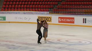 G.Papadakis/ G.Cizeron; Free Dance, Practice, Internationaux de France 2018