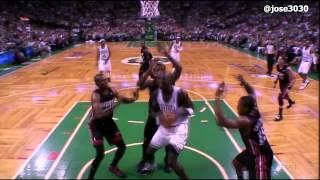 Kevin Garnett Gets Fouled, Goes Down Hard, Does Some Pushups - Heat @ Celtics 2012 NBA Playoffs