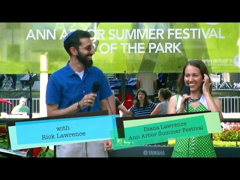"""Diana Lawrence at the Acoustic Stage, Ann Arbor Summer Festival """"Telegraph"""""""