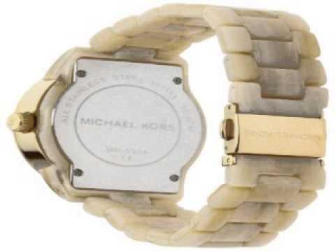 a83be561677b Michael Kors Womens MK5039 Ritz Horn Watch - YouTube