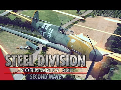 Dominating The Skies! Steel Division: Normandy 44 Gameplay (Pointe du Hoc, 4v4)