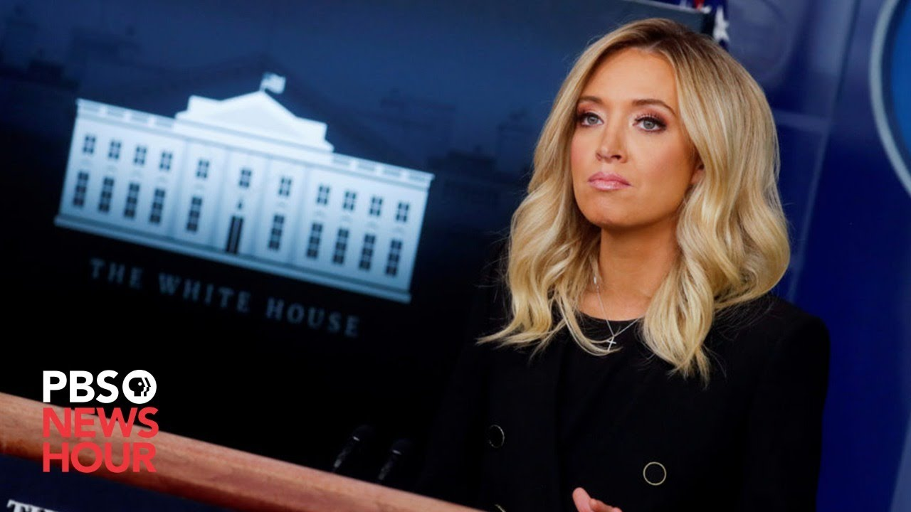 Watch White House Press Secretary Kayleigh Mcenany Holds