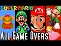 Super Mario ALL GAME OVER SCREENS 1985 2015 Wii U To NES mp3