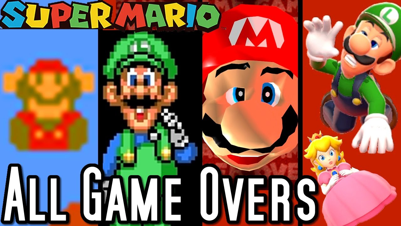 Super Mario ALL GAME OVER SCRE...