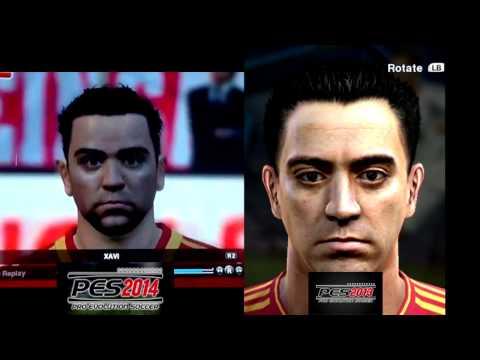 PES 2014 Vs PES 2013 - Face Comparison - Xavi