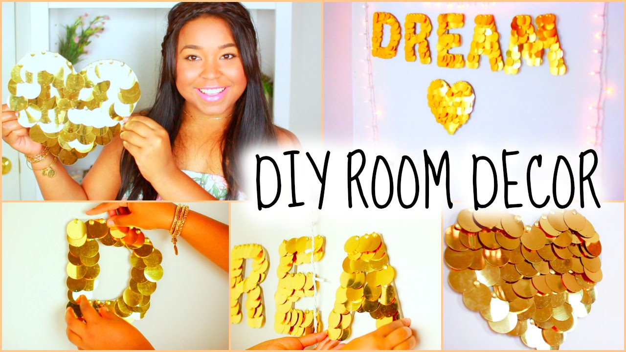diy tumblr room decor for teens | cheap & cute! - youtube