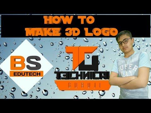HOW TO MAKE 3D LOGO LIKE TG