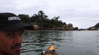 Remada em caiaques oceânicos, de São Francisco do Sul a Florianópolis, Out 2015