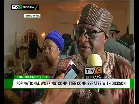 PDP National working committee commiserates with Bayelsa Governor