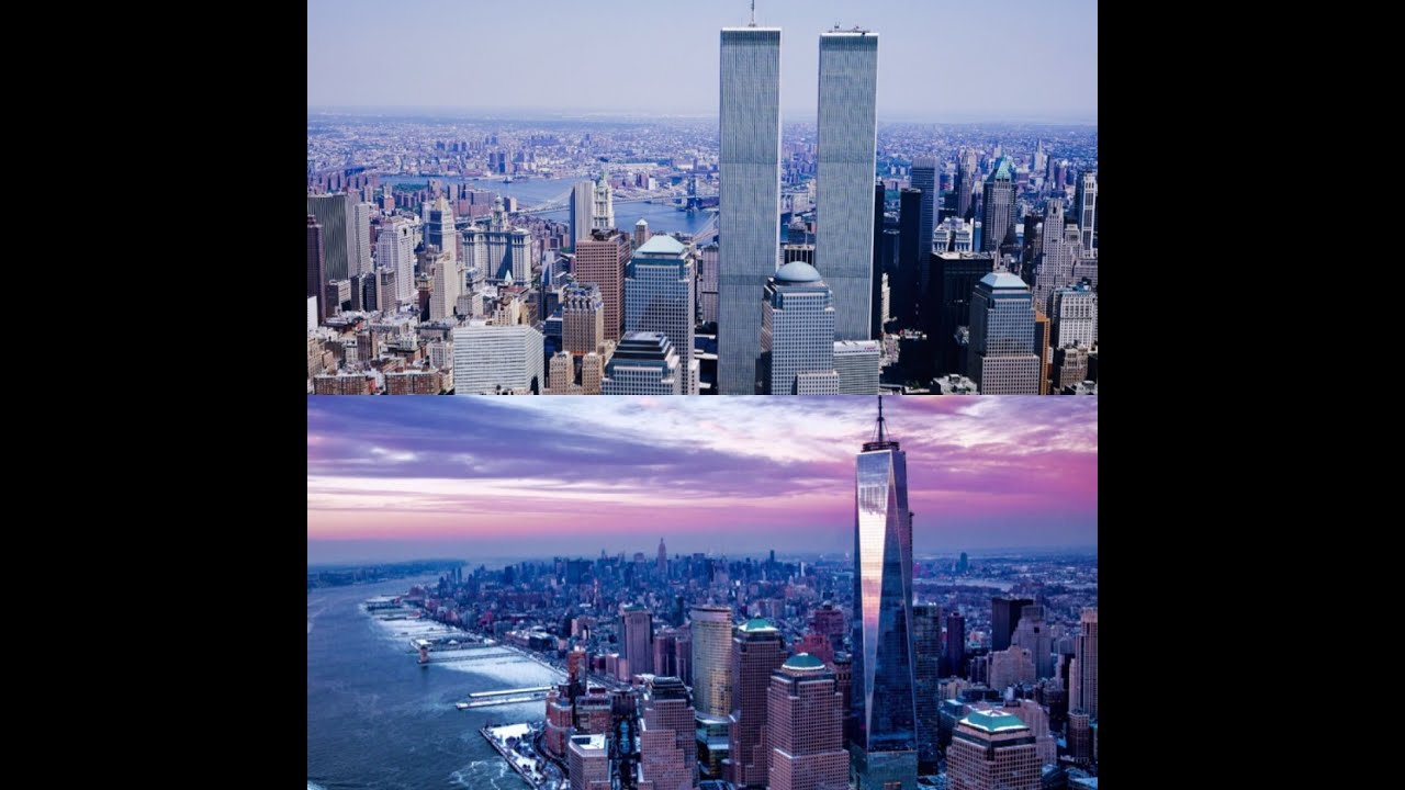 World Trade Center Twin Towers and New York