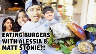 EATING BURGERS WITH MATT STONIE AND ALESSIA CARA (LOOKALIKES)