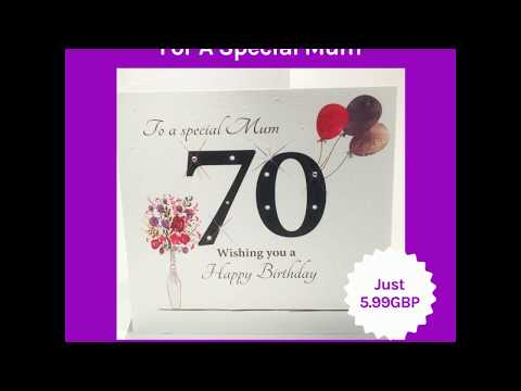 Large 70th Birthday Card For A Special Mum 2019