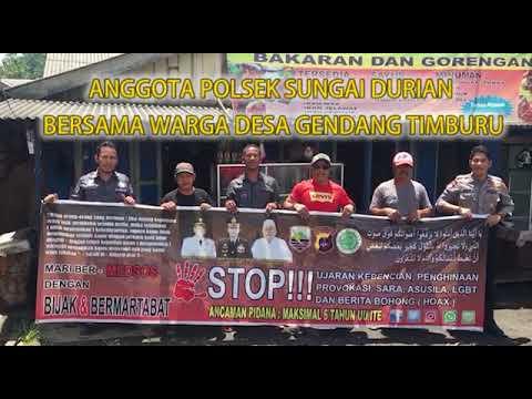 Polsek Sungai Durian Polres Kotabaru Bersama Warga Desa Gendang Timburu  Mendeklarasikan ANTI HOAX