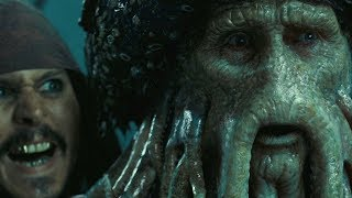 """Дэйви Джонс заключает сделку с Джеком Воробьем - """"Пираты Карибского моря: Сундук мертвеца"""""""