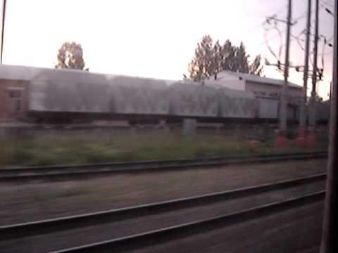 Поезд Рыбинск (Углич) - Москва. Проезжаем Талдом