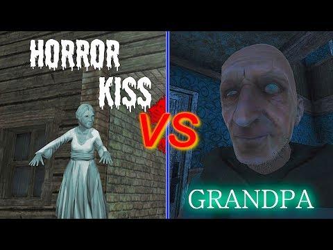 HORROR KISS VS GRANDPA_JUMPSCARE BATTLE