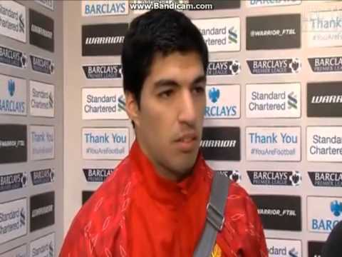 Luis Suarez interview after 4 goals against Norwich