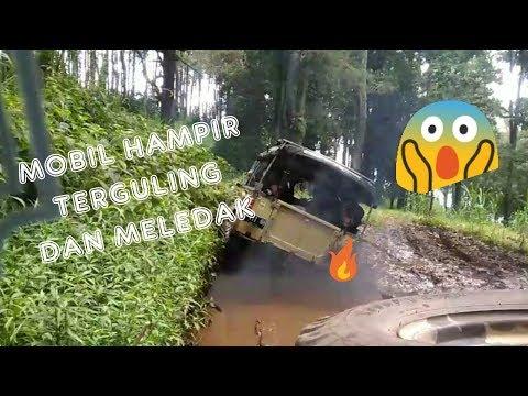 wisata-outbound-offroad-cikole-lembang-|-fpk-2019-bri-majalaya-|-heboh-mobil-hampir-terguling