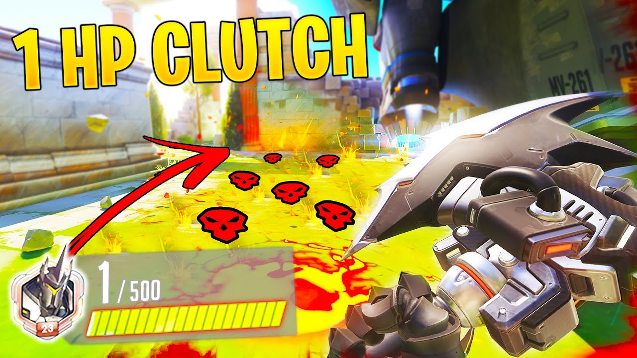 Craziest 1 HP Clutch EVER..! - Overwatch Moments Montage