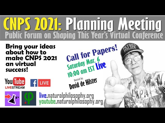 CNPS 2021 Conference Planning and Call for Papers - with David de Hilster