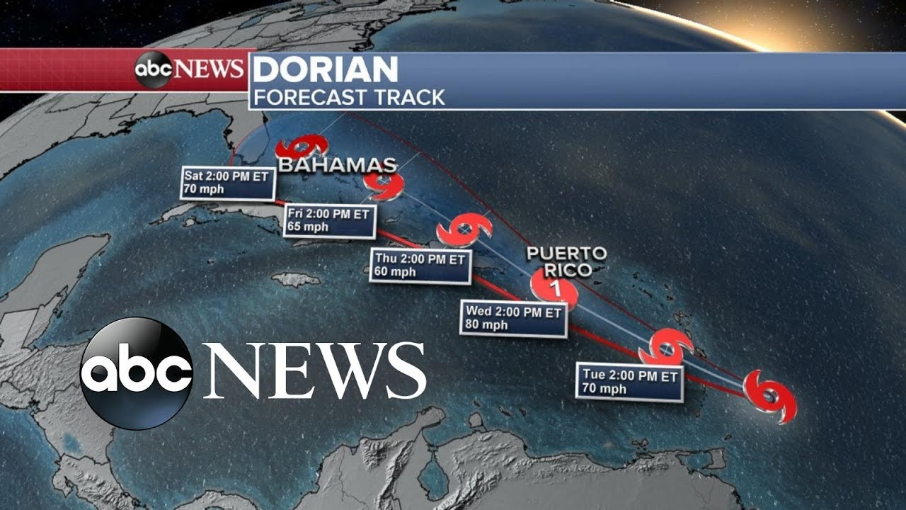 Tropical Storm Dorian gains strength in the Atlantic Ocean l ABC News