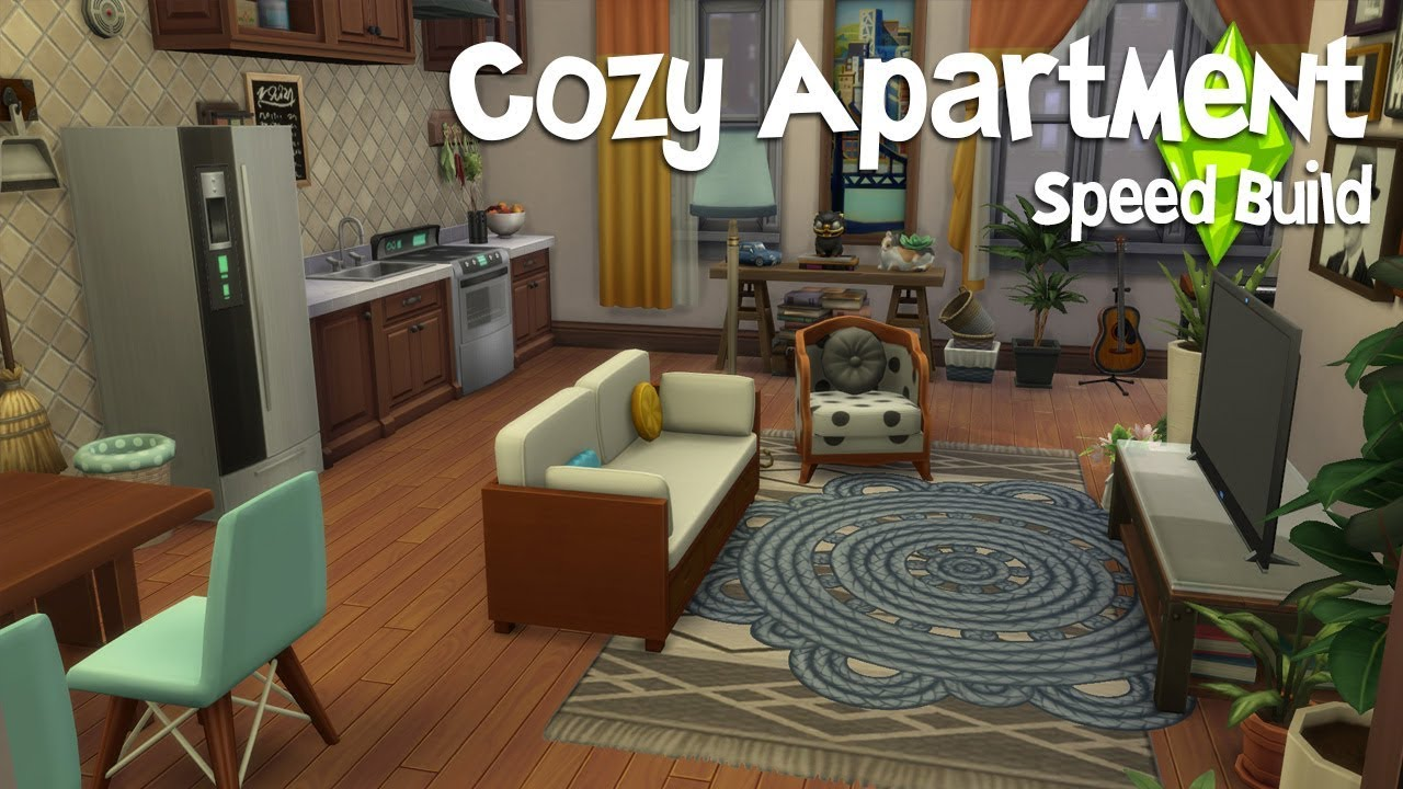 Cozy Apartment Speed Build The Sims 4 Youtube