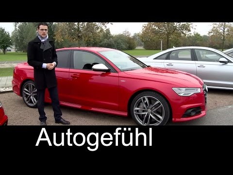 Audi S6 & Audi A6 Facelift FULL REVIEW test driven Sedan & Avant 2016 - Autogefühl