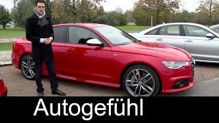 Audi S6 & Audi A6 Facelift FULL Review test driven Sedan & Avant 2016 - Autogefühl