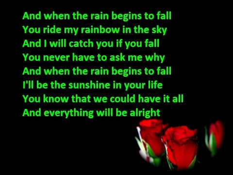 Pappa Bear - When the rain  begins to fall lyrics