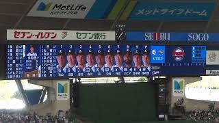 2018年4月7日(土)メットライフドーム 埼玉西武ライオンズ vs オリック...